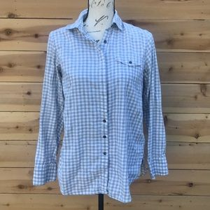 Club Monaco Button Down Flannel Top